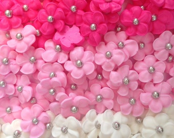 LOT of 150 royal icing flowers