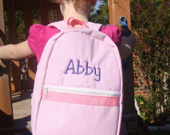 Preschool Toddler Backpack with Child's Name Monogrammed, Flower Girl Gift, Ring Bearer Gift
