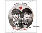 2 Personalized Roller Derby Wives Print
