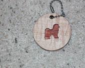 Bichon Keychain - Key Holder - Key Ring Accessory - Gift Idea - Bichon Frise