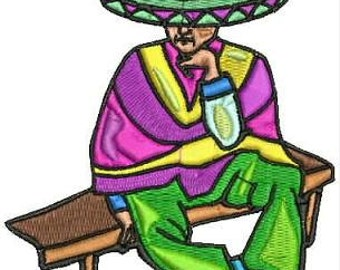 Mexican Fiesta Embroidery Designs Machine Embroidery 16 Designs Instant Download