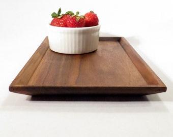 Wood serving tray - bevel edged wood platter