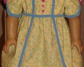 American Girl Doll Historical Gown & Pantalettes For Caroline Or Similar 18-inch Doll