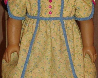 Early 1800's Regency Gown & Pantalettes For Caroline Or Similar 18-inch Doll