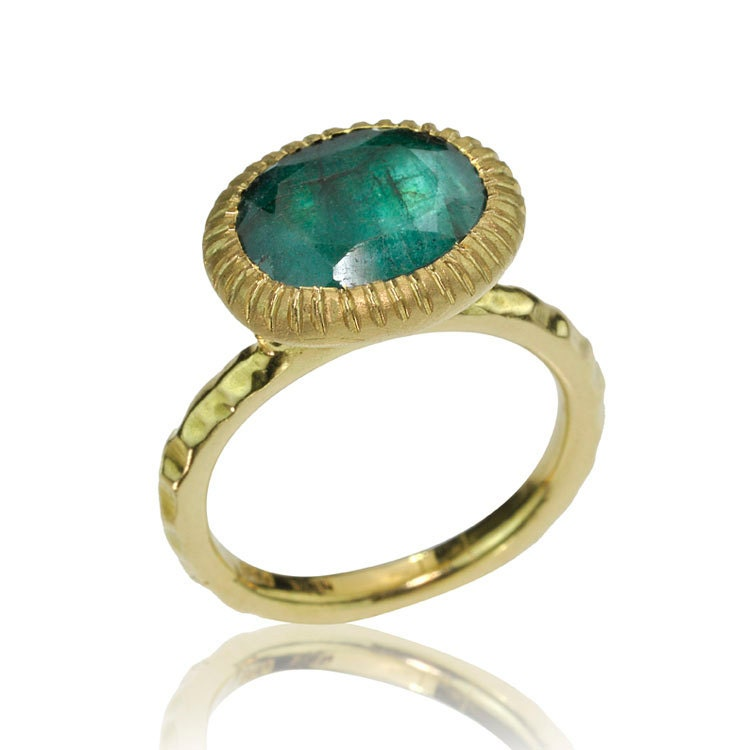 may birthstone ring 14k gold emerald ring antique style