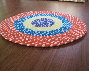 Made To Order Custom Braided Nursery Round Rug-in you color choices