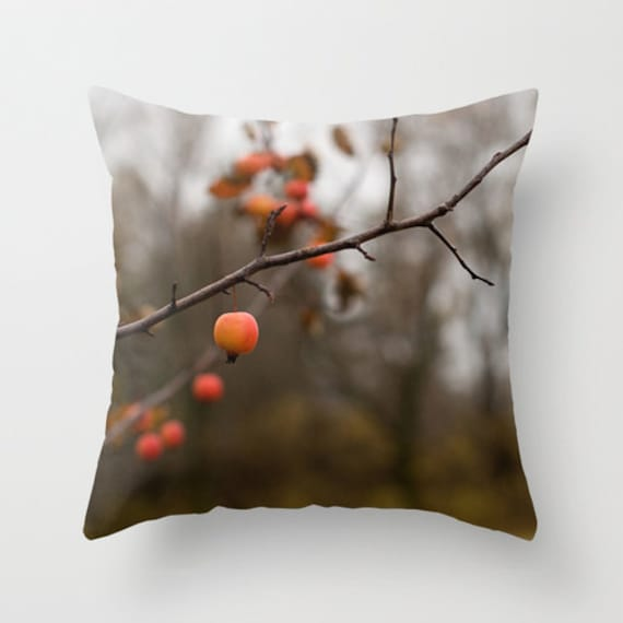 Autumn Throw Pillow Covers : Fall Decorative Pillow Cover Autumn Throw Cushion Case Red