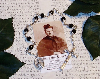 Unbreakable Catholic Chaplet of St. John Bosco - Patron Saint of Children, Students, Magicians, Altar Boys and Publishers