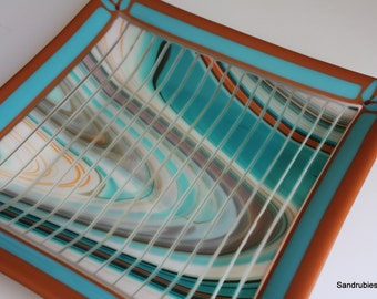 Southwest Plate in Fused Glass