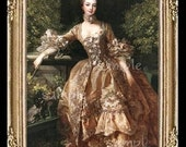1700's Lady Miniature Dollhouse Doll House Art Picture 6036