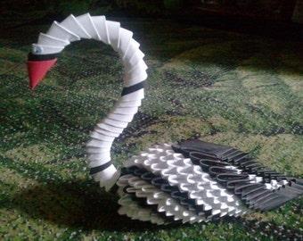 3d origami Elegant Swan
