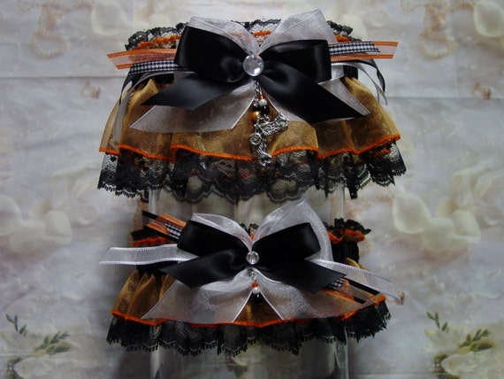 Harley Davidson Wedding: Harley Davidson Inspired Wedding Garter Set