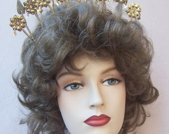 Vintage tiara crown headpiece Indonesian wedding headdress hair comb hair accessory hair jewelry hair ornament headdress (DAE)
