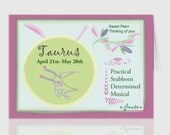 April Taurus Greeting Card