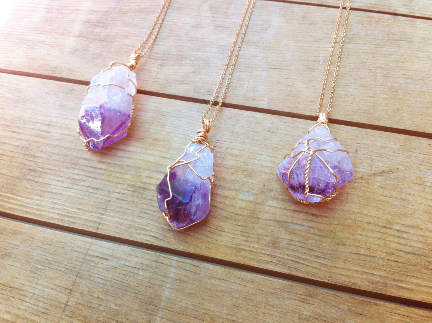 amethyst stone necklace - photo #43
