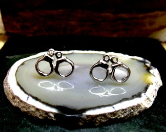 Handcuff Stud Earrings Sterling Silver Free Domestic Shipping