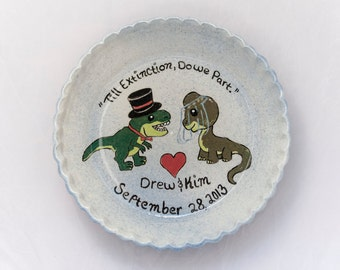Made to Order, Custom Pie dish, plate, wedding gift, personalized