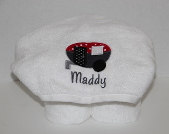 Camp Trailer Hooded Towel - Personalized
