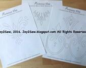 Elsa frozen coronation dress and vest stencil templates