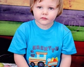Easter Train Embroidered Shirt:  Boy Easter Shirt, Train spring shirt, 1st easter shirt,