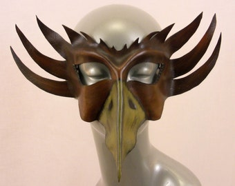 Bird Demon Leather Mask