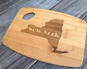 New York cutting board laser engraved bamboo