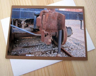 Rusty Train Blank Greeting Card Photography