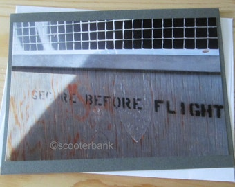 Secure Before Flight Blank Greeting Card Photography