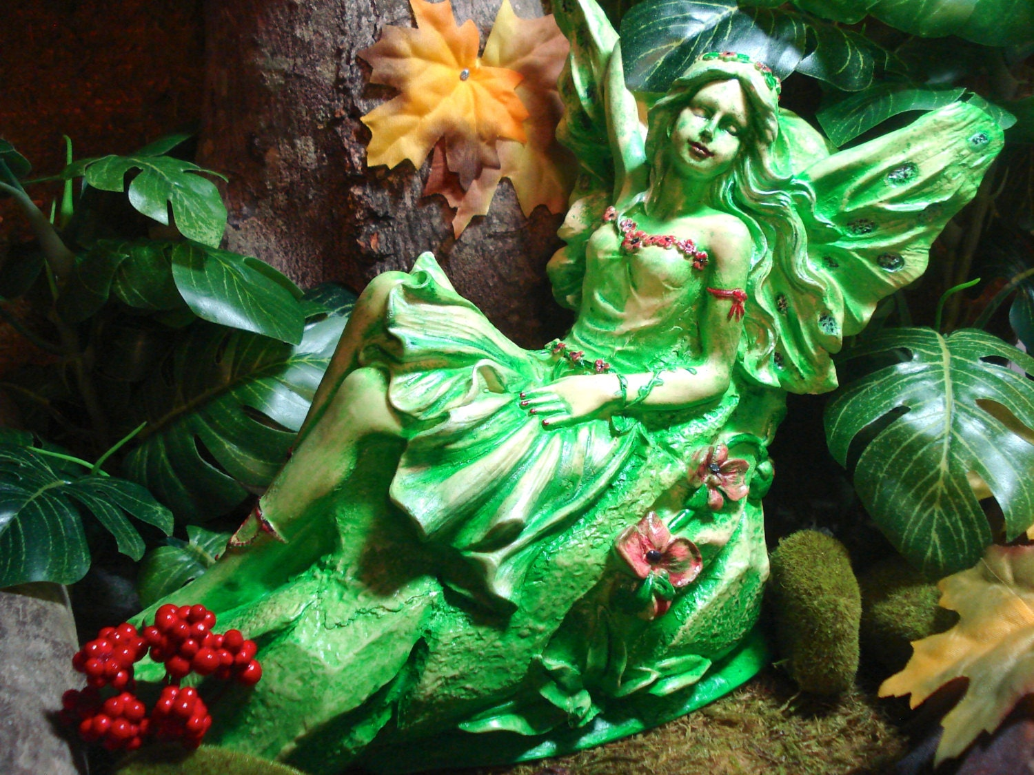 Whimsical fairy garden decor garden statuary by for Whimsical garden statues