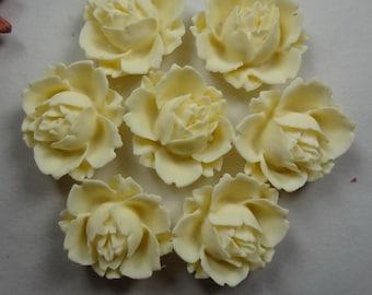 621-00-700-CA   6pcs Pretty Rose Cabochon - Cream( 016)