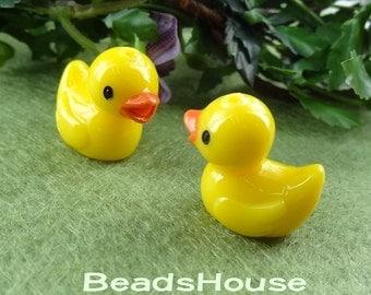 6 pcs  Cute Yellow Ducks