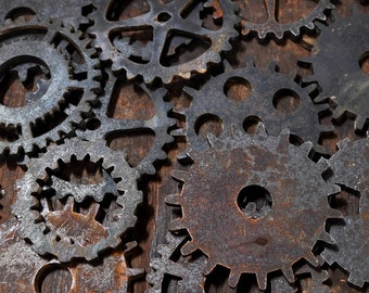 Collection of Gears and Cogs / Vintage Industrial