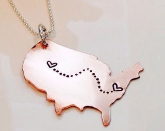 State to state necklace state pendant necklace state charm