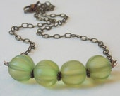 Light Green Necklace Green Beaded Necklace Chunky Green Necklace Simple Green Necklace Lime Green Necklace Jewelry Necklaces Beaded