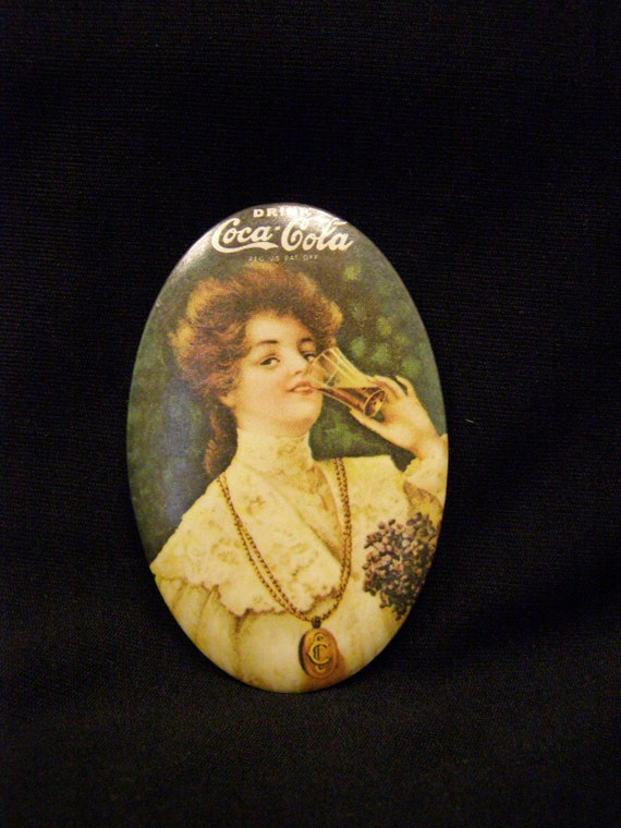 1973 Collectible Vintage Coca Cola Pocket Mirror