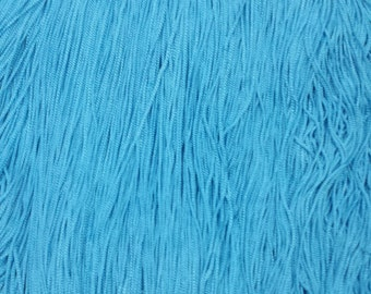 Chainette Fringe in Turqoise Fabric Trim for flapper, Costumes, dancers, decor  10 yards