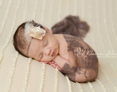 Toffee Brown Stretch Lace Wrap Newborn Photography Prop Baby Swaddle