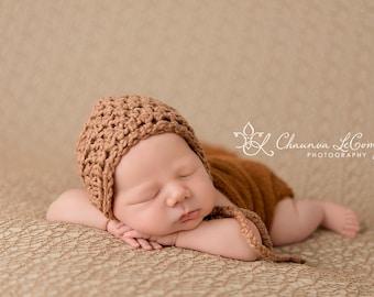 SET Cotton Newborn Baby Bonnet Hat Stretch Knit Wrap