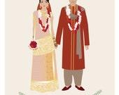 Custom Portrait, Wedding Portrait, family portrait, couple portrait