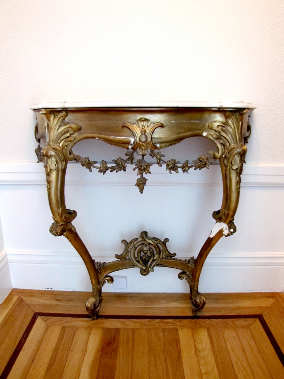 Rococo Console Table 19th Century French Hall Table Antique