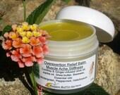Muscle Ache Herbal Balm, Stiffness, Weekend Warrior Overexertion Relief, Aromatherapy