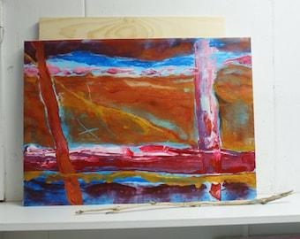 Dynamic abstract painting - Mixed media