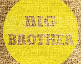 Instant Download - Big Brother in Yellow - Download and Print - Image Transfer - Digital Sheet by Room29 Sheet no. 565yellow
