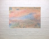 Abstract, Living Dream, original watercolour, home decor, soft pastel like, hostess gift, gift 45