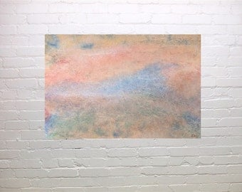 Abstract, Living Dream, original watercolour, home decor, soft pastel like, hostess gift, gift 45