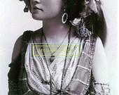 Digital Vintage Gypsy Photo Reprint