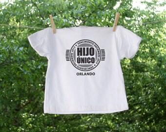 Hijo Unico Vencimiento - Only Child Expiring Date Shirt - Retro Logo-Spanish