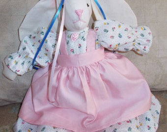 Sweet Handcrafted Girl Bunny in Pink