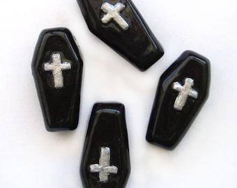 Large Peruvian Ceramic Coffin Beads