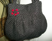 Back and White Polka Dots and lady Bugs Purse